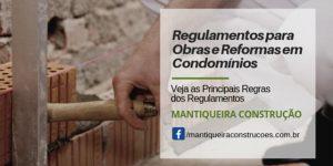 Regulamento para obras em condomínios